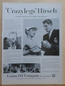 "1958 magazine ad for Union Oil Co. - Elroy ""Crazylegs"" Hirsch L.A. Rams star"