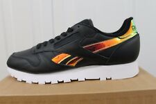 MEN'S REEBOK CL LEATHER RD BLACK CASUAL TRAINER