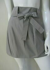 COUNTRY ROAD sz 8/XS lined grey pleated cotton tie mini skirt AS NEW