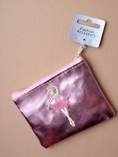 Porte-Monnaie Rose Ballerine avec fermeture éclair supérieure x 11 8cm