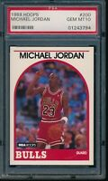 PSA 10 MICHAEL JORDAN 1989-1990 Hoops #200 Chicago Bulls HOF GOAT GEM MINT RARE