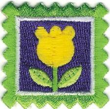 "1 1/2"" Yellow Tulip Flower Stamp Embroidery Patch"