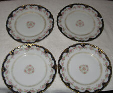 "Antique Set 4 Hand Painted China Lunch Plates Theodore Haviland Limoge ""9 - #3"