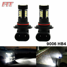 2pcs Power HID White 9006 HB4 LED Fog Lights Driving 80W 6000K Bulb Super Lamps