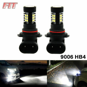 2 Bulbs 9006 HB4 White LED Fog Lights Conversion 80W Bulbs Kit 6000K Lamps