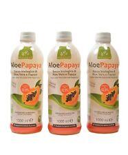 Offerta 3 AloePapaya Bio Succo biologico di Aloe Vera e Papaya