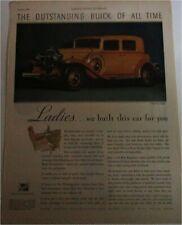 1932 Buick 4 dr sedan car ad