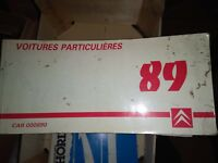 RARE MANUEL D'ATELIER CITROEN CARNETS DE POCHE VOITURES PARTICULIERES 1989