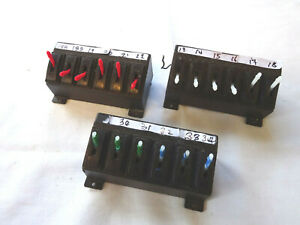 PECO N OR OO GAUGE 3 SWITCH HOUSING & 18 SWITCHES