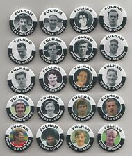 FULHAM FC LEGENDS MAGNETS   X 40     38mm  IN SIZE