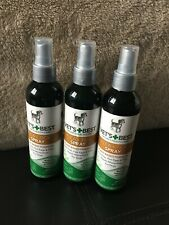 LOT OF 3 Vet's Best Natural Flea And Tick Spray Plant Based 8 Oz Each USA Made