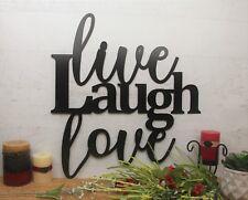 Live Laugh Love Wall Art, Metal Wall Sign, Decorative Back Porch Decor