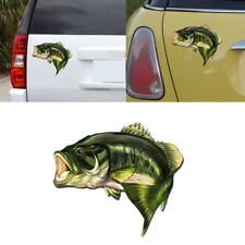 1X Car Bass Fish Fishing Stickers Boat Kayak Decals Truck Body Window 3D Sticker
