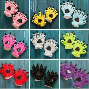 Plush Animal Paw Claw Gloves Hands Cosplay Xmas Gift Party Baby Kids Toy Costume