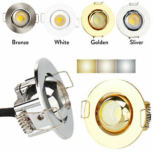 Dimmable LED Mini Recessed Ceiling Downlight 3W Spot Lights Lamp + Driver 220V