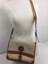 Dooney & Bourke Surrey All Weather Leather Beige Brn  = Vintage Shoulder Bag Ex