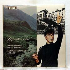 SXL 6363 WB - CLAUDIO ABBADO - MENDELSSOHN symphonies nos.3 & 4 DECCA LP EX+