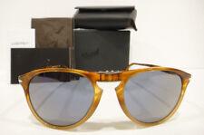0def09cf5ad5b Persol 9714 Sunglasses Folding 9-714 Blue 102556 Light Havana Authentic New  55m