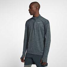 Men's Nike Dry Element Half 1/2 Zip Running Top Jungle / Grey Sz S 857820 328