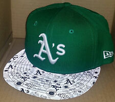 NWT NEW ERA Oakland Athletics A's reflective 59FIFTY fitted 7 1/8 cap hat mlb