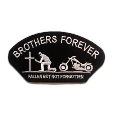 Aufnäher / Bügelbild - BROTHERS FOREVER Biker - schwarz - 12.9 x 7 cm - Patches