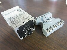 OMRON H3CA-A TIMER RELAY w/ POTTER & BRUMFIELD BASE 27E892- USED