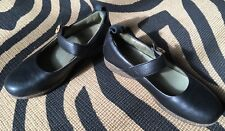 Planet Walkers By Simple Black Leather Shoes Mary Janes Size EURO 40, US 9