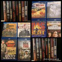 Bundle of Blu-Rays Classic War Movie Das Boot, Bridge on River Kwai, Dirty Dozen