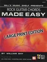Rock Guitar Chords Made Easy Large Print Edition Chord Book