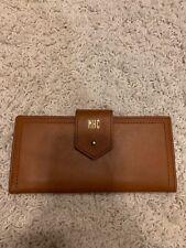 EUC Madewell English saddle leather wallet with monogram