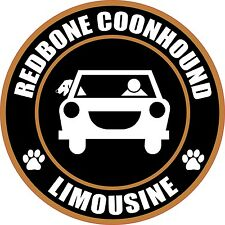 "LIMOUSINE REDBONE COONHOUND 5"" DOG STICKER"