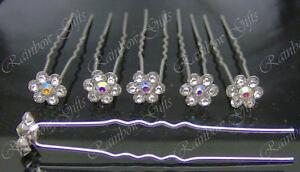 WEDDING HAIR PINS PROM BRIDESMAID FLOWER GIRL BRIDAL HAIR PINS