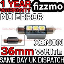 Libre de error Canbus 3 Smd Led 36mm 239 272 C5w Xenon Blanco número Placa Bombilla de luz
