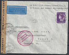 Netherland Indies covers 1941 cens Airmailcover Nongkodjadjar