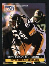 Hardy Nickerson #636 signed autograph auto 1991 Pro Set Football Trading Card