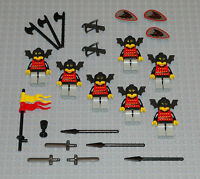 LEGO Minifigures Lot 7 Castle Bat Knights People Guys Toys Weapons Lego Minifig