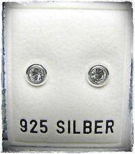 NEU 925 Silber 5mm OHRSTECKER 3mm SWAROVSKI STEINE crystal/kristallklar OHRRINGE