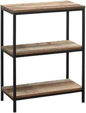 Birlea Urban Industrial Rustic 3 Tier Shelving Unit Bookcase Shelves Wood Metal