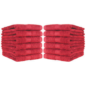 12 Pack of Bathroom Hand Towels - 100% Ring-Spun Cotton 16 x 27 Color Options