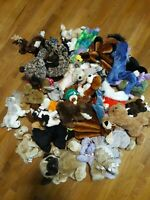 Vintage Lot Of 32 Stuffed Animals Used Great Condition