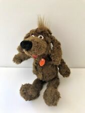 """Russ Berrie and Company presents Nuzzle the plush dog with hanging dog tags 7"""""""