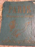 Paris Photographies en Couleurs Colored Lithograph Fold-Out Booklet Antique 1900