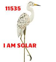 Regal Art & Gift - Solar Bird Stake - Egret - 42.5 ''- NEW FOR 2017 - 11535