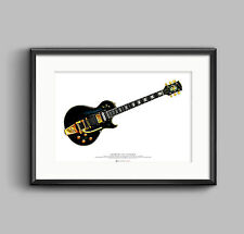 Jimmy Page's 1960 Gibson Les Paul Custom Black Beauty guitar ART POSTER A2 size
