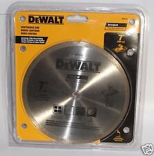 "Dewalt DW4791 7"" Continuous Rim Wet Cutting Saw Blade High Performance"