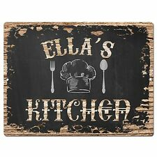 PP2041 ELLA'S KITCHEN Plate Chic Sign Home Room Kitchen Decor Birthday Gift