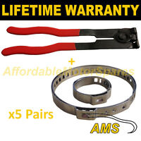 CV BOOT CLAMPS PAIR x5 EAR PLIERS x1 UNIVERSAL FITS ALL CARS KIT 3.5