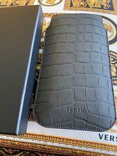 "Genuine Brand NEW Vertu Signature Touch Alligator STONE Slip Case 5.2"" Very RARE"
