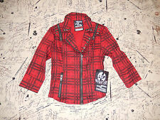 LIP SERVICE CORROSION OF CONFORMITY RED MOTO WHITE NOISE JACKET M NWT 46-466