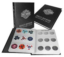 Harley-Davidson Collector's Poker Chip Leather Grain Album - Holds 54 Chips 6654